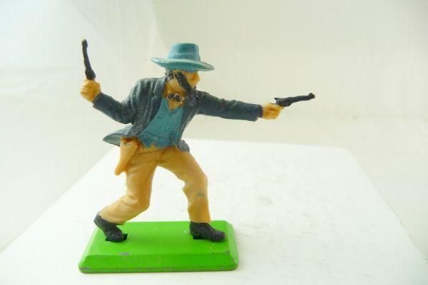 Britains Deetail Cowboy stehend, 2 Pistolen wild schießend