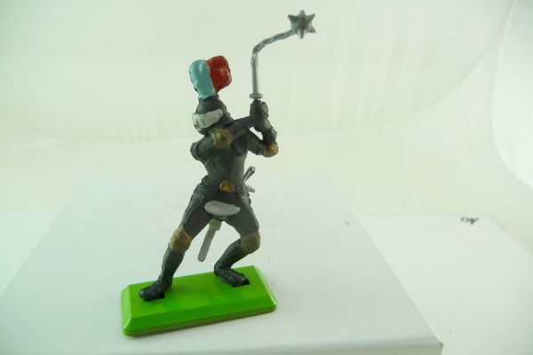 Britains Deetail Black knight lunging with flail ambidextrous