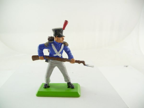Britains Deetail Waterloo, French standing with rifle in front of body