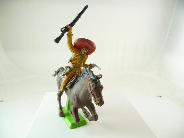 Britains Deetail Mexican riding with pistol + rifle - rare