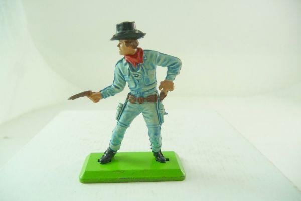 Britains Deetail Cowboy Pistole schießend / ziehend, hellblau, schwarzer Hut