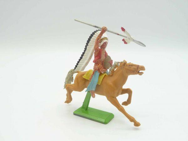 Britains Deetail Indianer reitend, Speer werfend - auf seltenem Pferd
