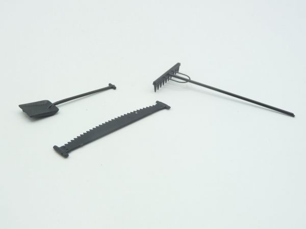 3 agricultural tools (plastic) - suitable for 7 cm figures
