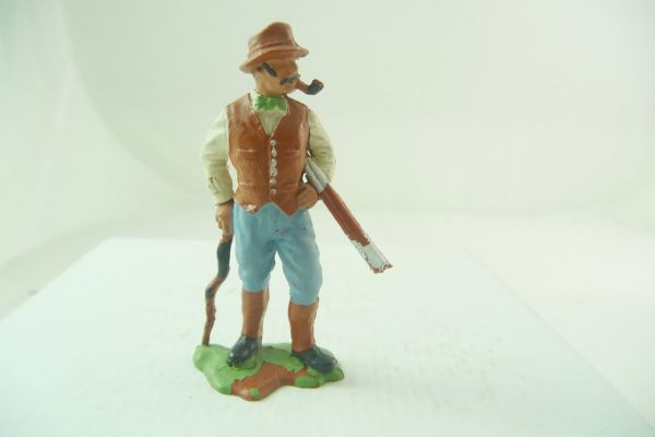 Britains Farmer with rifle + stick - great early figure, nice painting