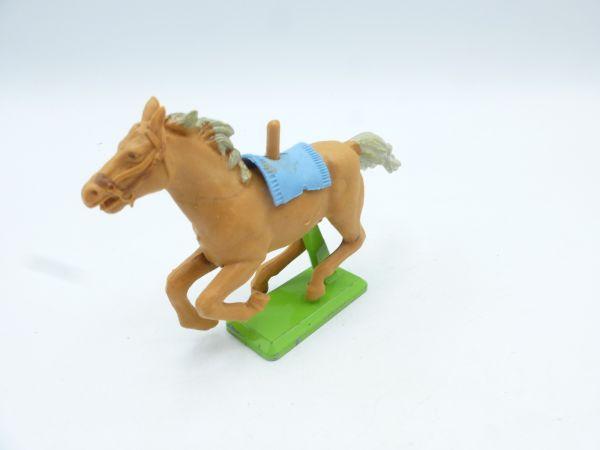 Britains Deetail Horse galloping, light brown (blue blanket)