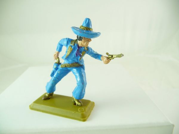 Britains Deetail Mexican going ahead with pistol, blue, Britains DSG