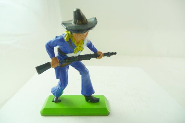 Britains Deetail Mexican going ahead, rifle in front of body, dark-blue