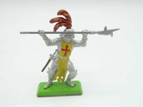 Britains Deetail Knight 1st version standing, jabbing with spear