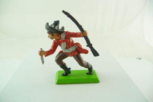 Britains Deetail Mexican with rifle + knife, red with black sombrero