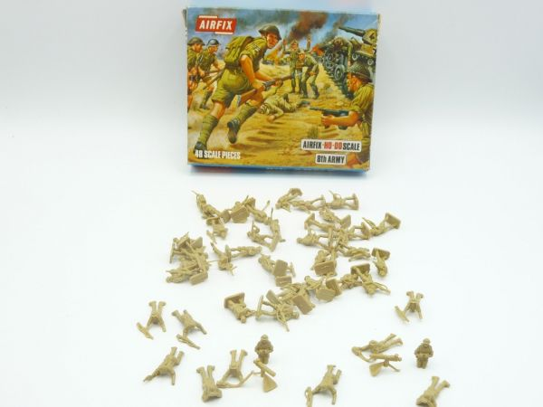 Airfix 1:72 8th Army 1st version, No. S9-50 - Blue Box, figures top condition