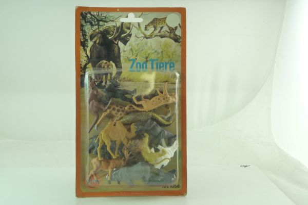 Alme Toys Set zoo animals, No. 1058 - orig. packing