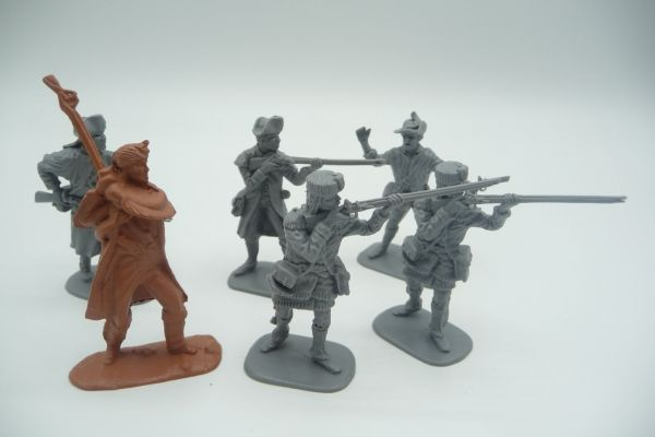 6 soldiers of different epochs (War of Independence, etc.) - brand new