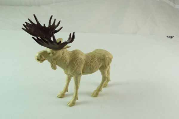 Britains American moose, No. 1355, cream-white - rare