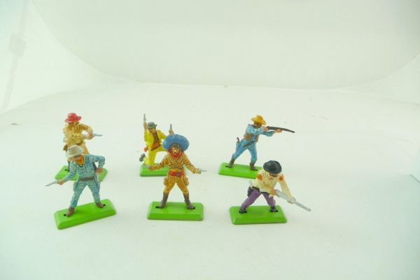 Britains Deetail 6 different standing Cowboys 1. version