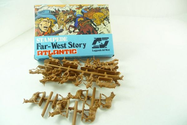 Atlantic 1:72 Far West Story: Stampede, No. 1113 - orig. packaging, parts on cast