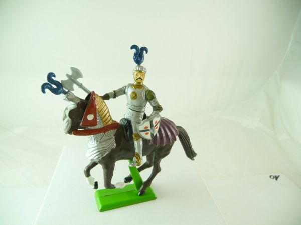 Britains Deetail Knight riding with sword + shield - top condition