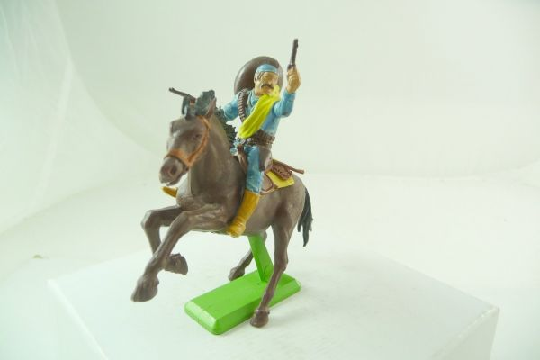 Britains Deetail Mexican riding, firing with 2 pistols - rare horse
