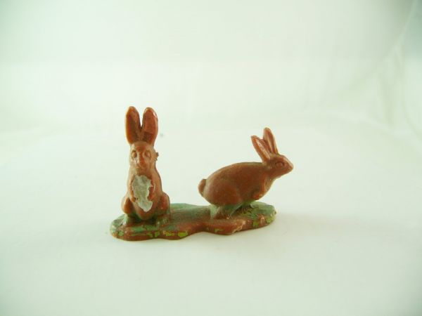 Britains Rabbit couple, brown - very early version
