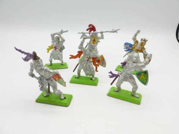 Britains Deetail Knights 1st version (6 figures) - complete set