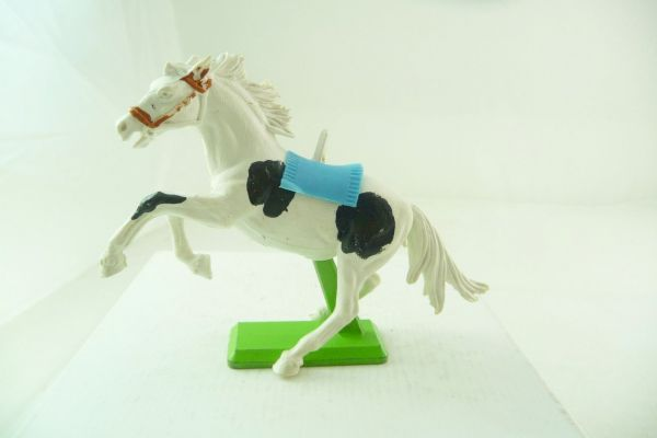 Britains Deetail Mustang white/black (light-blue blanket)