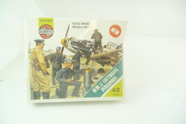 Airfix 1:72 WW II; Luftwaffe Personnel S55, No. 1755 - orig. packaging, shrink-wrapped