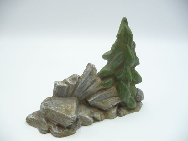 Lineol Stone pile + fir tree - Replica