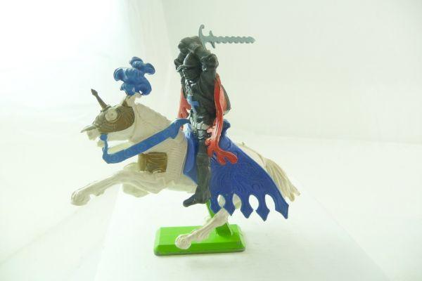 Britains Deetail Black knight on horseback, striking ambidextrous over head
