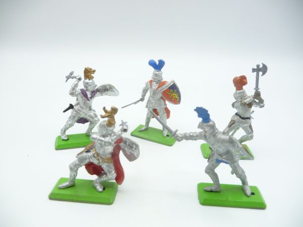 Britains Deetail 5 knights in different positions
