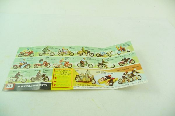 Britains Folded leaflet Motorbikes