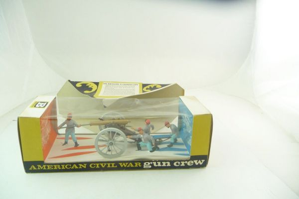 Britains ACW Confederate Gun Team with gun, No. 4435 - orig. packaging, great old box