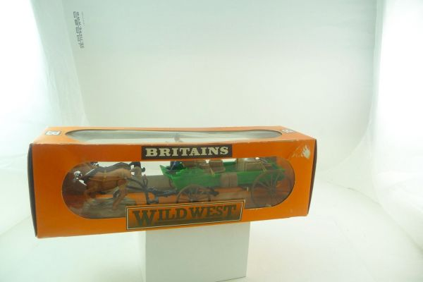 Britains Flat wagon / Buckboard, No. 7617 - orig. packaging, unused, shop discovery