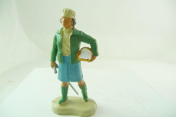 Britains Farmer's wife with bowl + stick