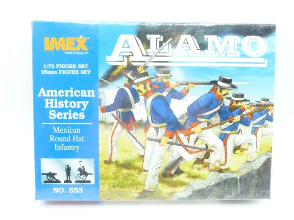 IMEX 1:72 Am. History Series; Mexican Round hat Infantry, Nr. 553