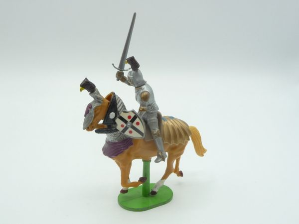 Britains Deetail Knight (movable) riding with sword + shield