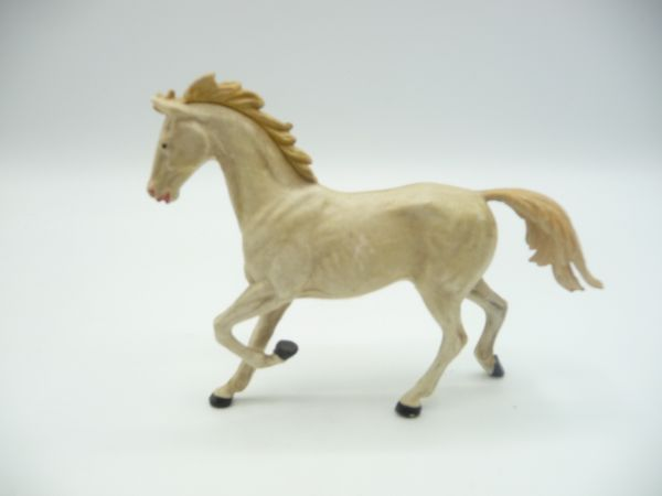Elastolin Pferd trabend, creme - tolle frühe Figur