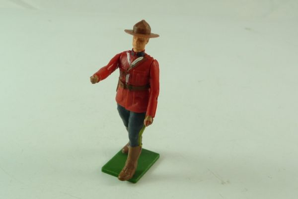 Britains Canadian Mountie standing with dark hat