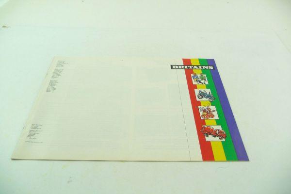 Britains Katalog 1988, 15-seitiger bunt bebilderter Katalog - sehr guter Zustand