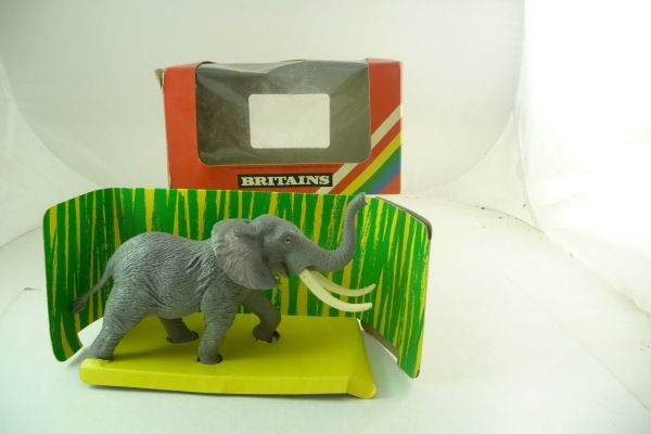 Britains African elephant, No. 1309 - orig. packaging, rare, box with traces of storage