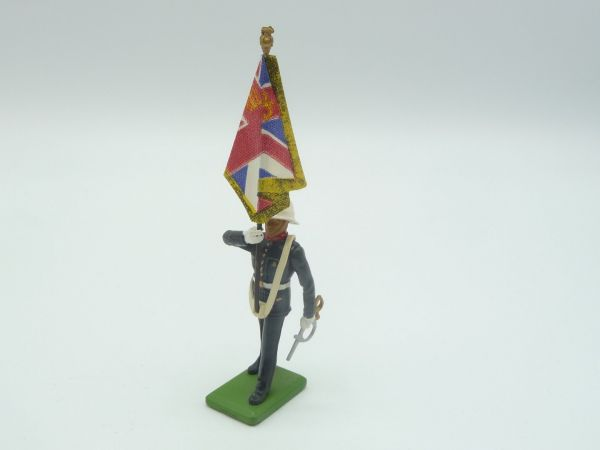 Britains Deetail (Metal) Music Corps, soldier with flag