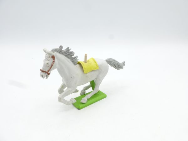 Britains Deetail White horse cantering, white/grey (yellow blanket) - rare