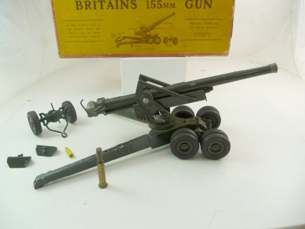 Britains 155 mm Gun - orig. packing, gun used, box with traces of storage