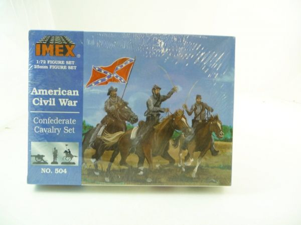 IMEX 1:72 Am. Civil War; Confederate Cavalry Set, Nr. 504 - eingeschweißt