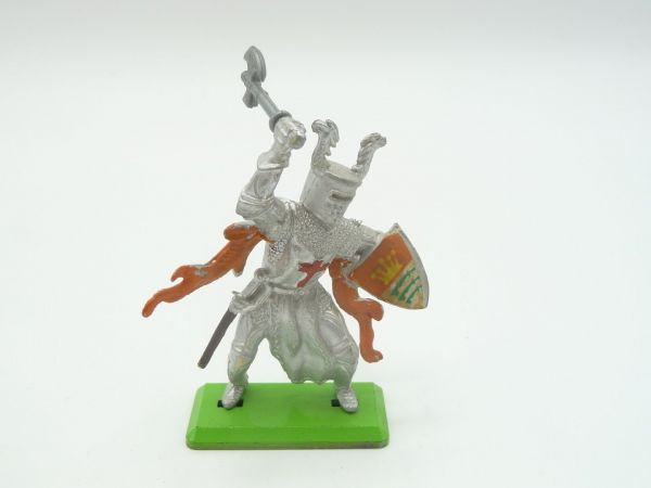 Britains Deetail Knight 1st version standing with battleaxe + shield