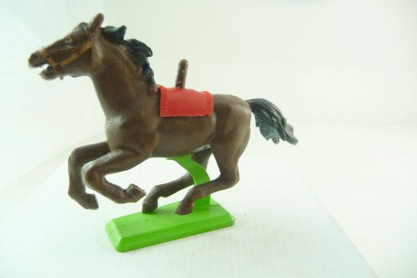 Britains Deetail Horse brown, galloping (red blanket)