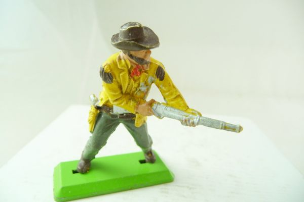 Britains Deetail Cowboy standing, firing rifle from the hip