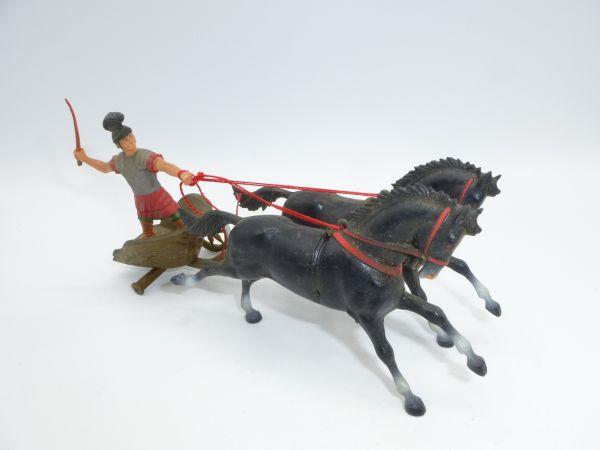 Starlux Streitwagen mit römischem Fahrer - 1 Rad fehlt