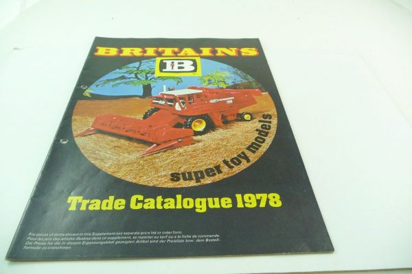 Britains Big retailer catalogue 1978, 23-page colourful illustrated catalogue