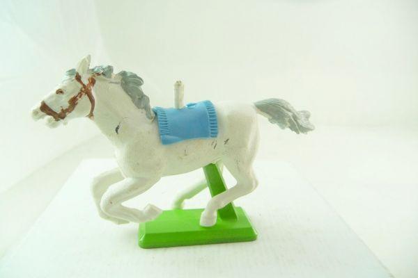 Britains Deetail Pferd weiß, galoppierend (hellblaue Decke)