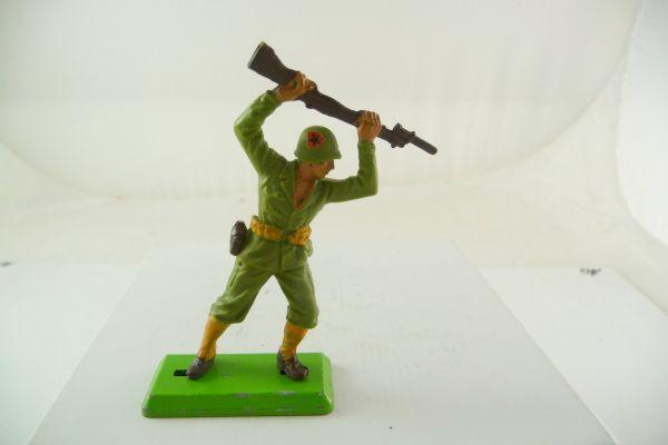 Britains Deetail Amerikanischer Soldat mit Gewehr von oben zustoßend