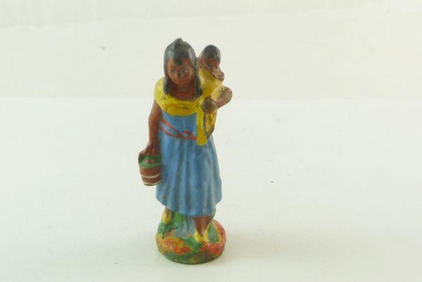 Beck Indianerin mit Eimer und Kind - guter Zustand